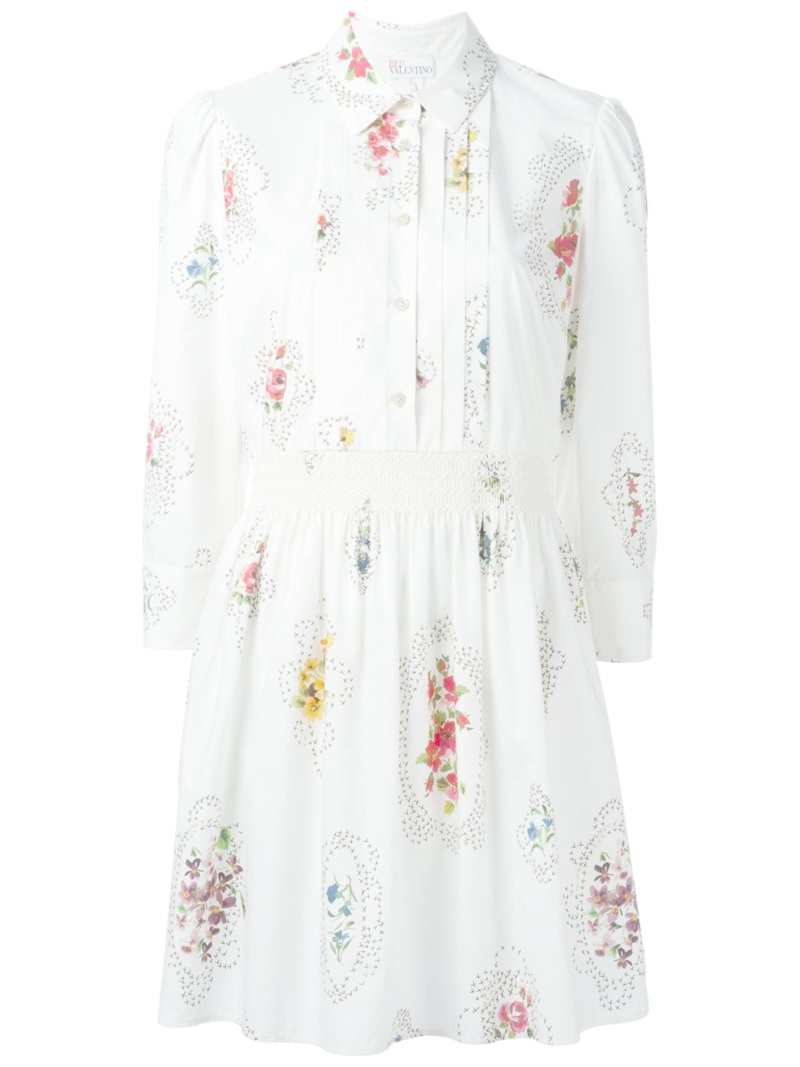lyst red valentino robe dress in white With red valentino robe