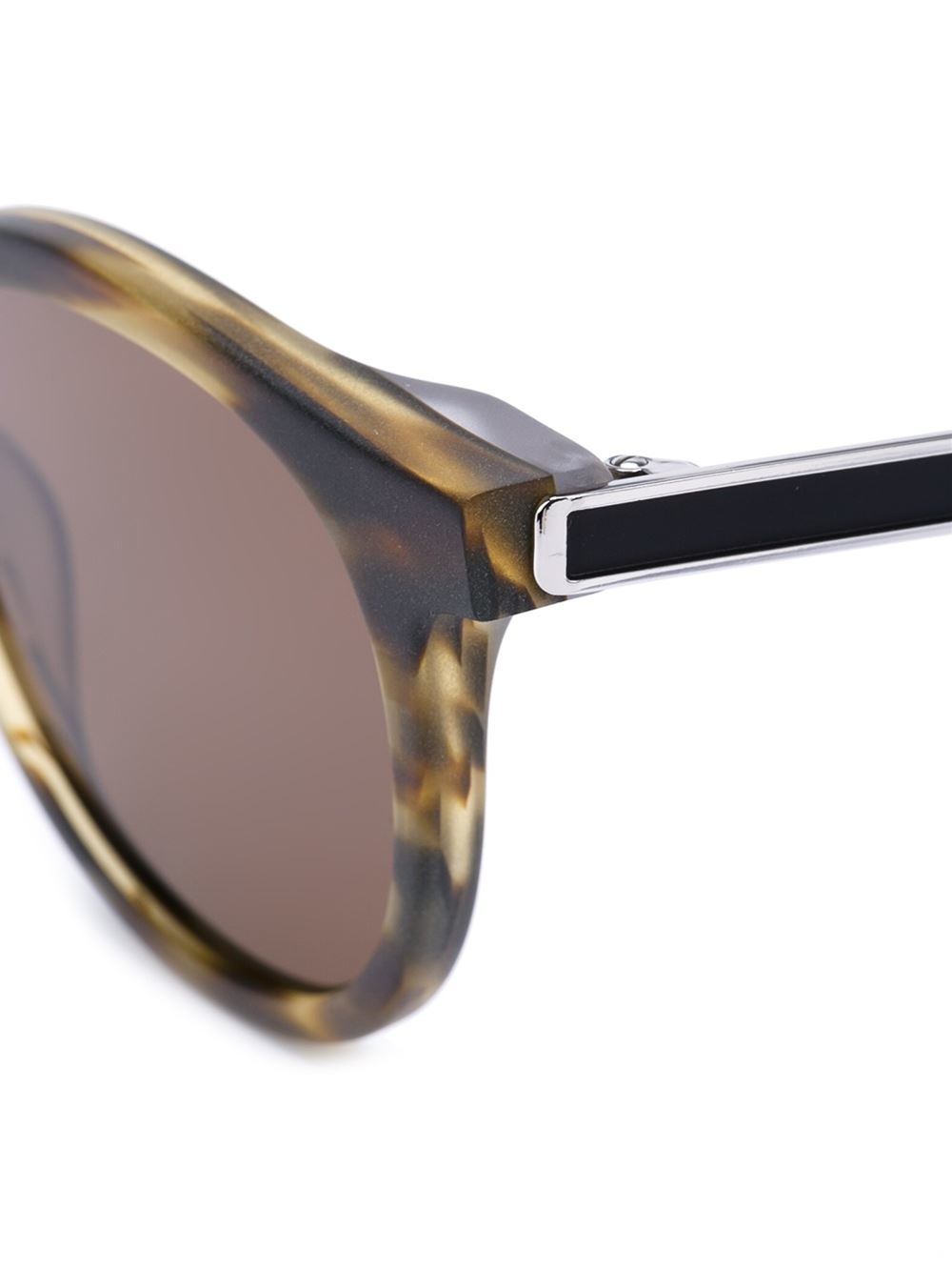 Lyst - Thierry Lasry Round Frame Sunglasses in Brown