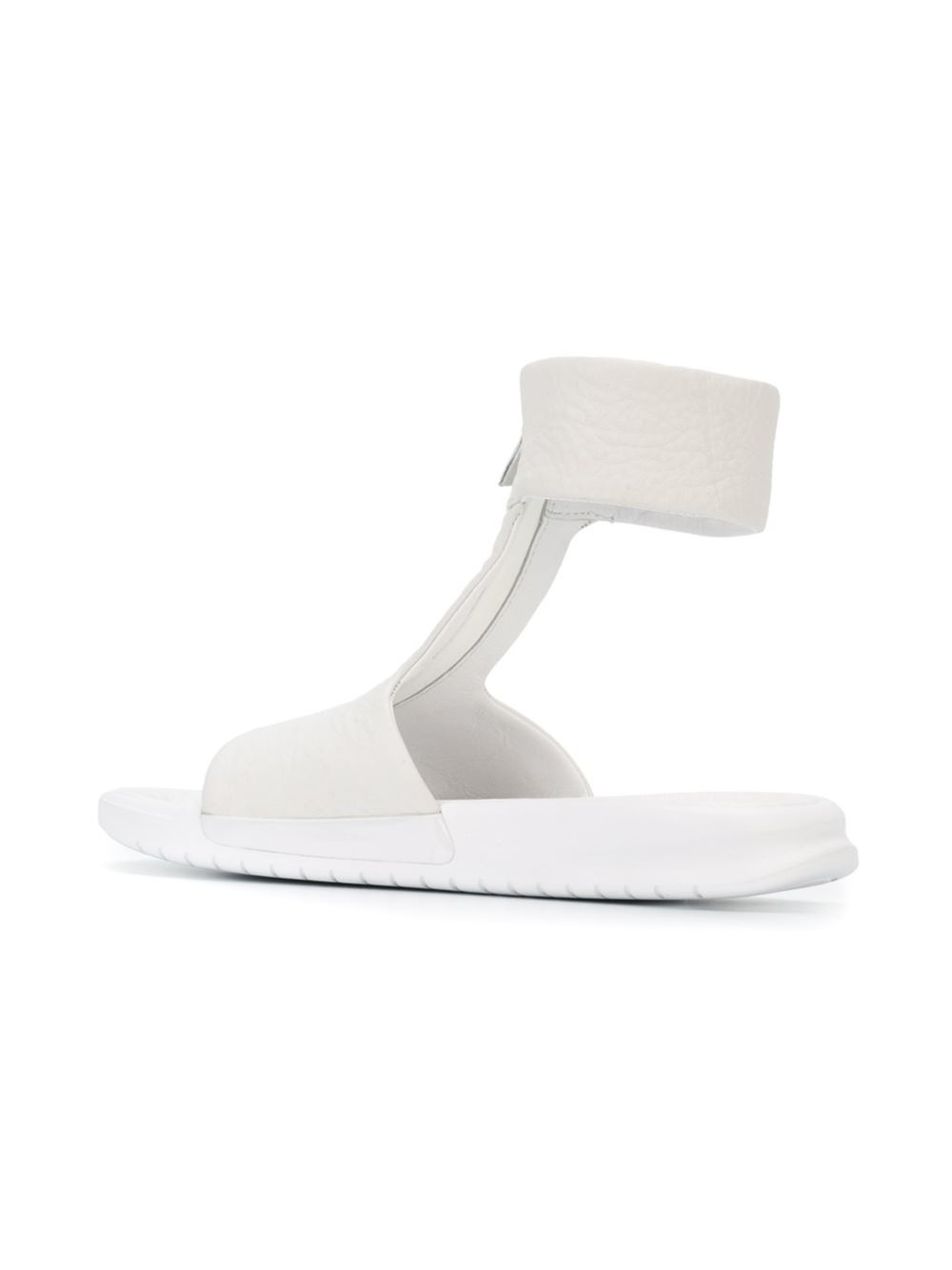 Lyst Nike Benassi Lux Cuff Leather Sandals In White