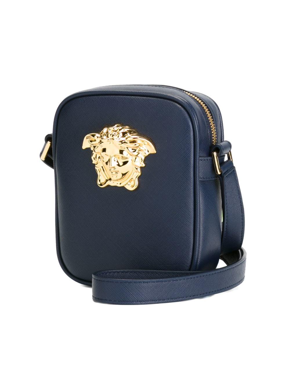 Versace Medusa Shoulder Bag In Blue For Men Lyst