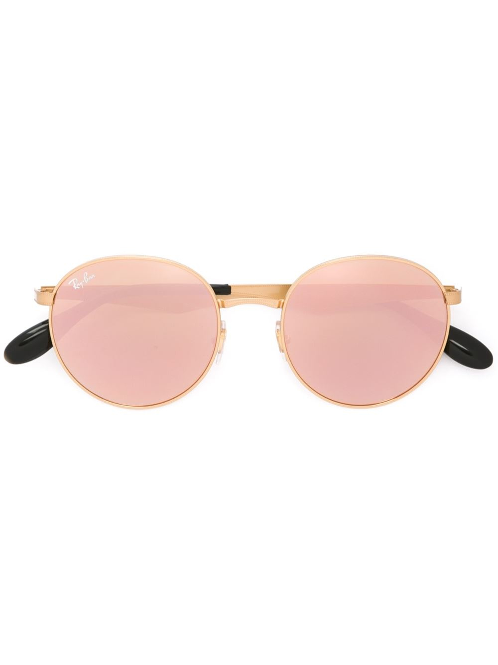Ray Ban Round Frame Sunglasses : Ray-ban Round Frame Sunglasses in Metallic Lyst