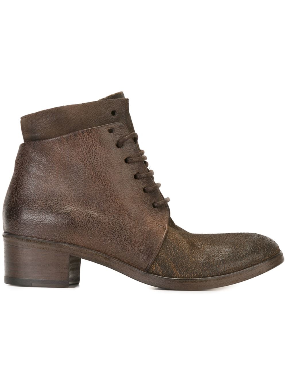 mars 232 ll corteccia lace up ankle boots in brown lyst