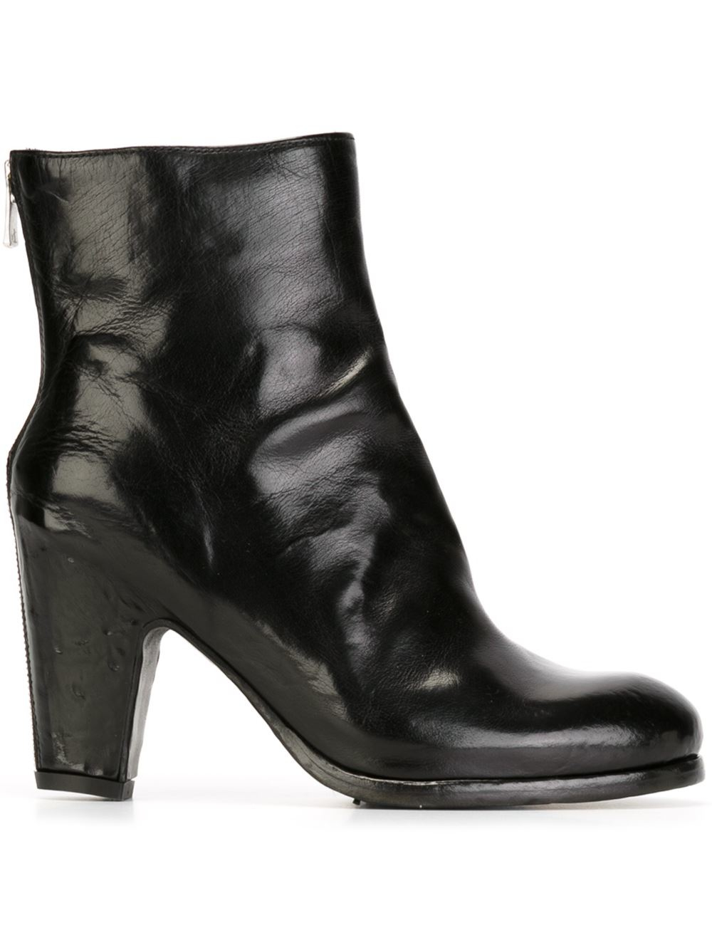 officine creative doinel patent buffalo ankle boots in black lyst. Black Bedroom Furniture Sets. Home Design Ideas