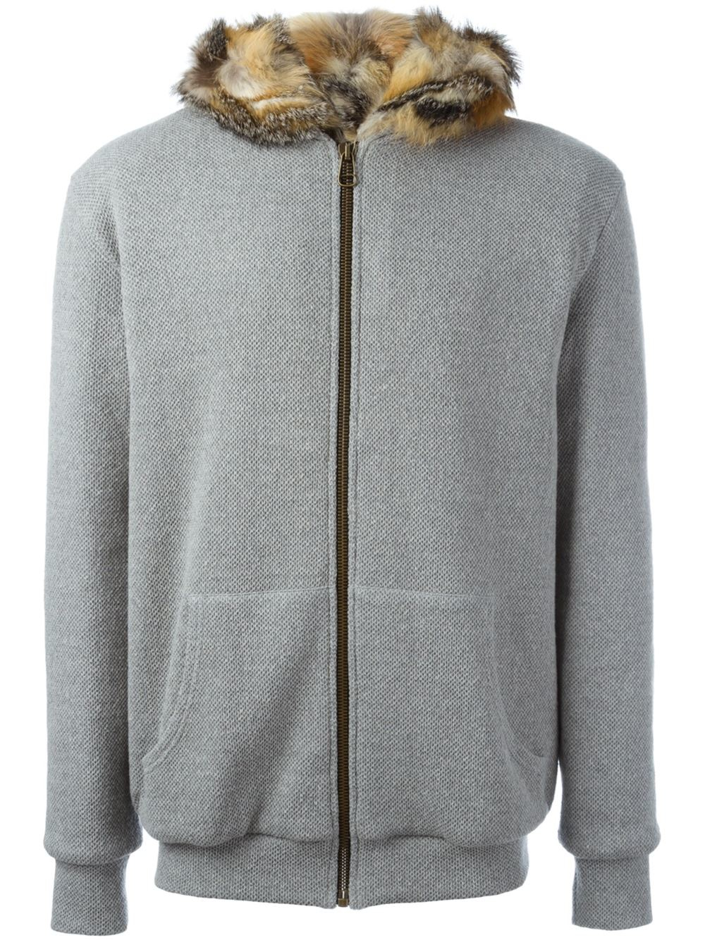 Mr  Mrs Italy Fur Lined Hoodie In Gray For Men Grey  Lyst-6032