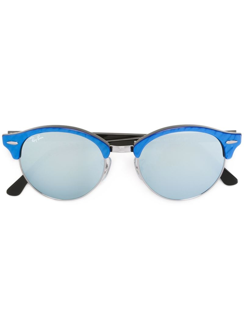 Ray Ban Round Frame Sunglasses : Ray-ban Round Frame Sunglasses in Black (BLUE) Lyst