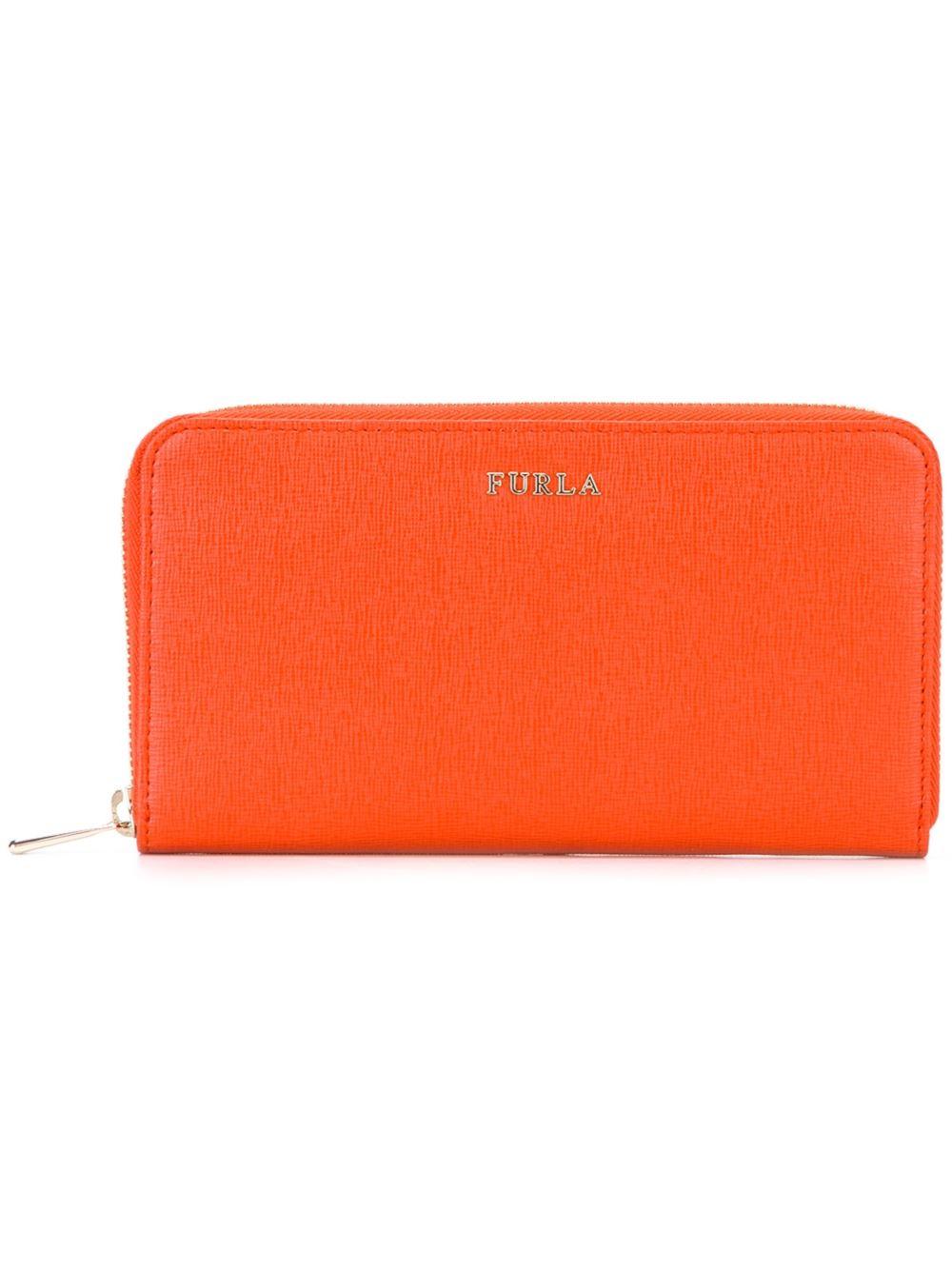 Lyst Furla Babylon Wallet In Orange