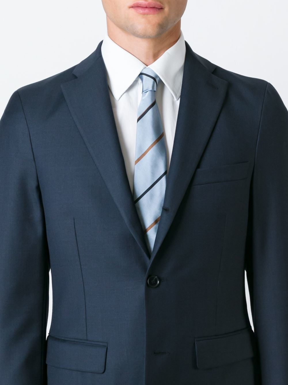 Paul smith striped tie in blue for men lyst for Paul smith doctor who shirt