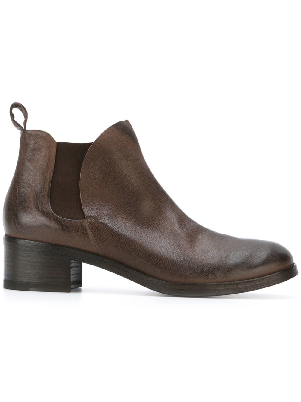 mars 232 ll leather chelsea boots in brown lyst