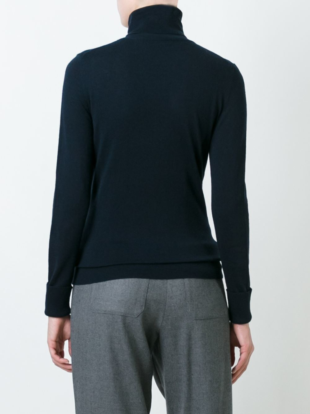 steffen schraut roll neck jumper in blue lyst. Black Bedroom Furniture Sets. Home Design Ideas