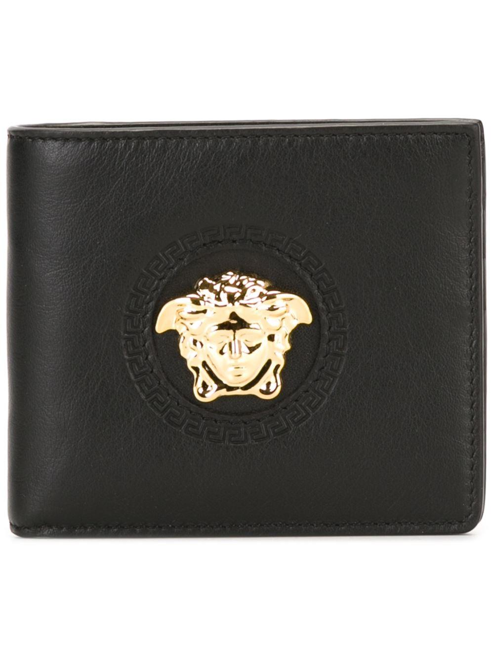 Lyst Versace Medusa Wallet In Black