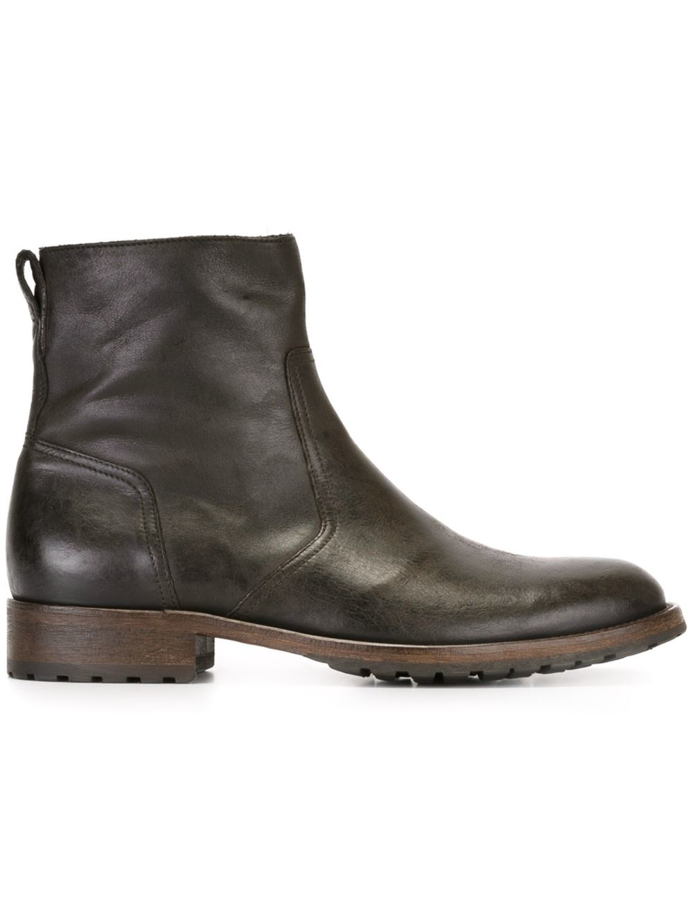 belstaff distressed ankle boots in black for lyst