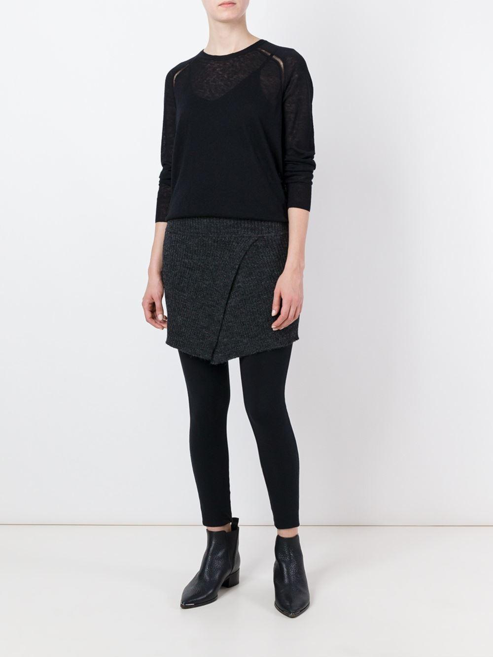 toile isabel marant isabel marant toile 39 foty 39 jumper in black lyst. Black Bedroom Furniture Sets. Home Design Ideas