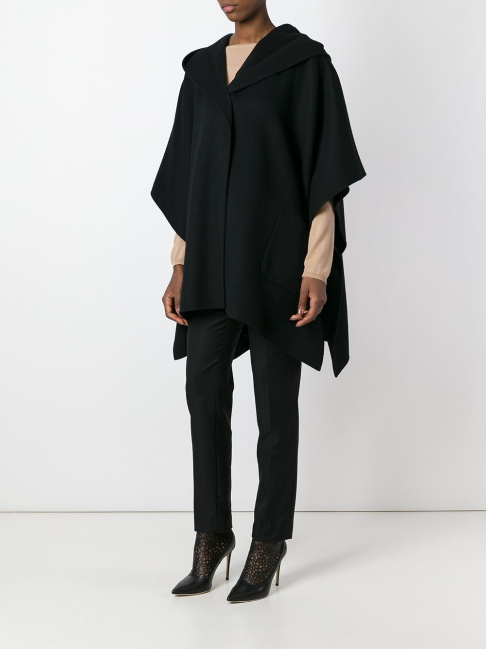 Max Mara Studio Wool Davina Coat In Black Lyst
