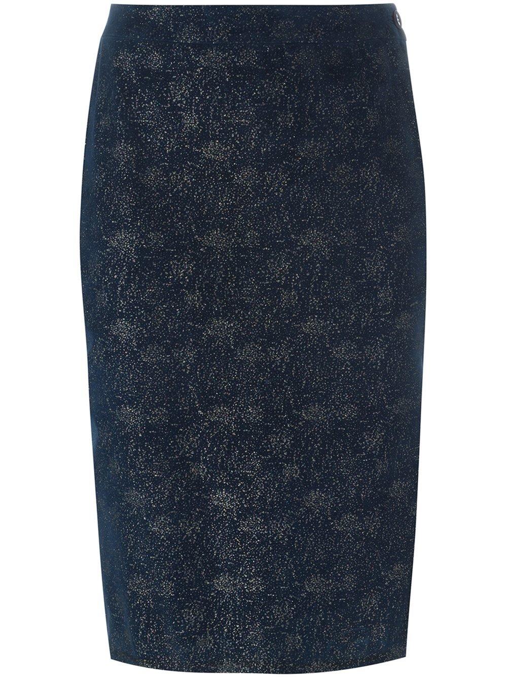 romeo gigli glitter pencil skirt in blue lyst