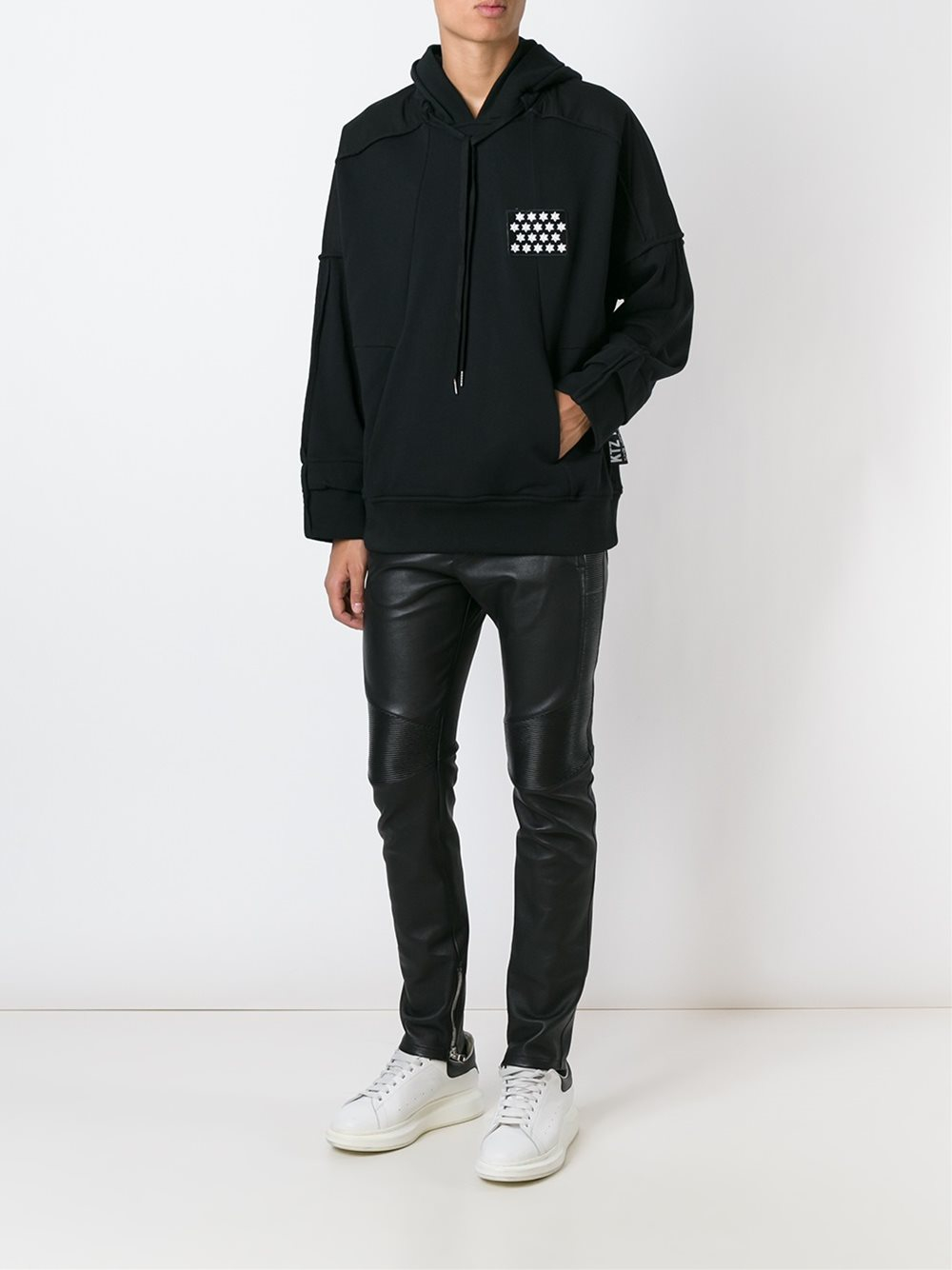 Ktz Chest Patch Hoodie In Black For Men Lyst
