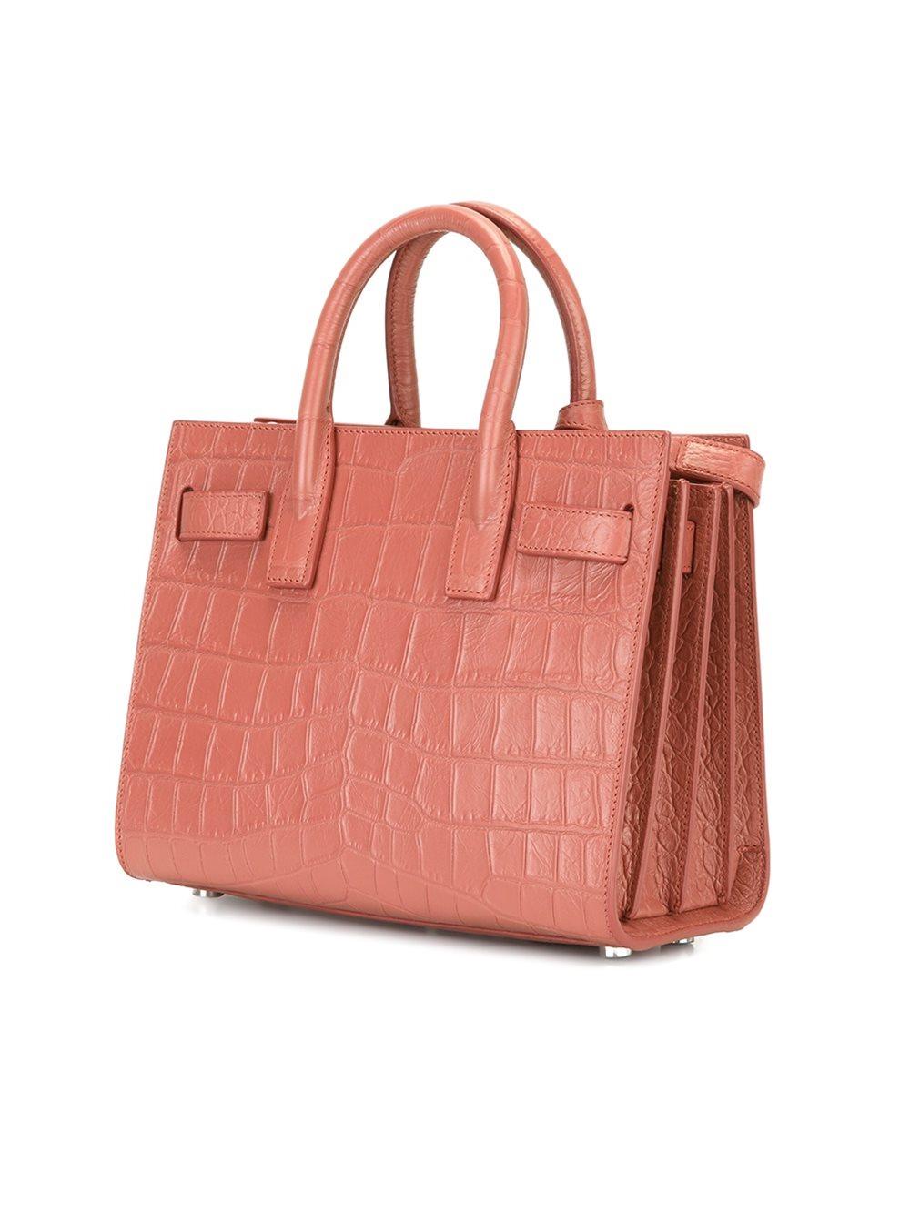 saint laurent nano sac de jour tote bag in pink lyst. Black Bedroom Furniture Sets. Home Design Ideas