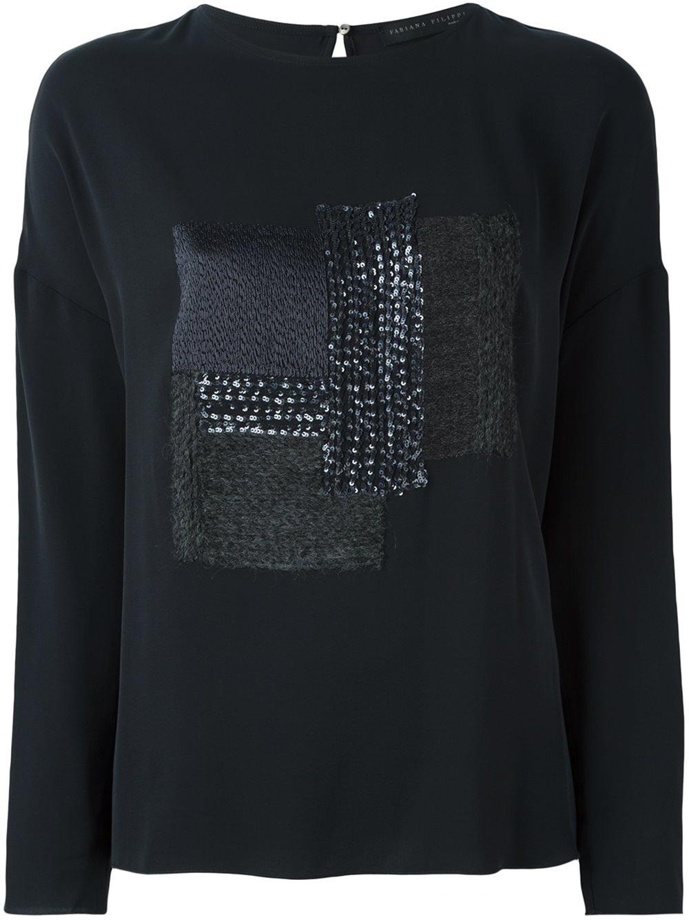 Black sequin hoodie
