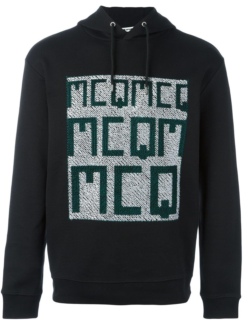 mcq alexander mcqueen logo print hoodie in black for men lyst. Black Bedroom Furniture Sets. Home Design Ideas