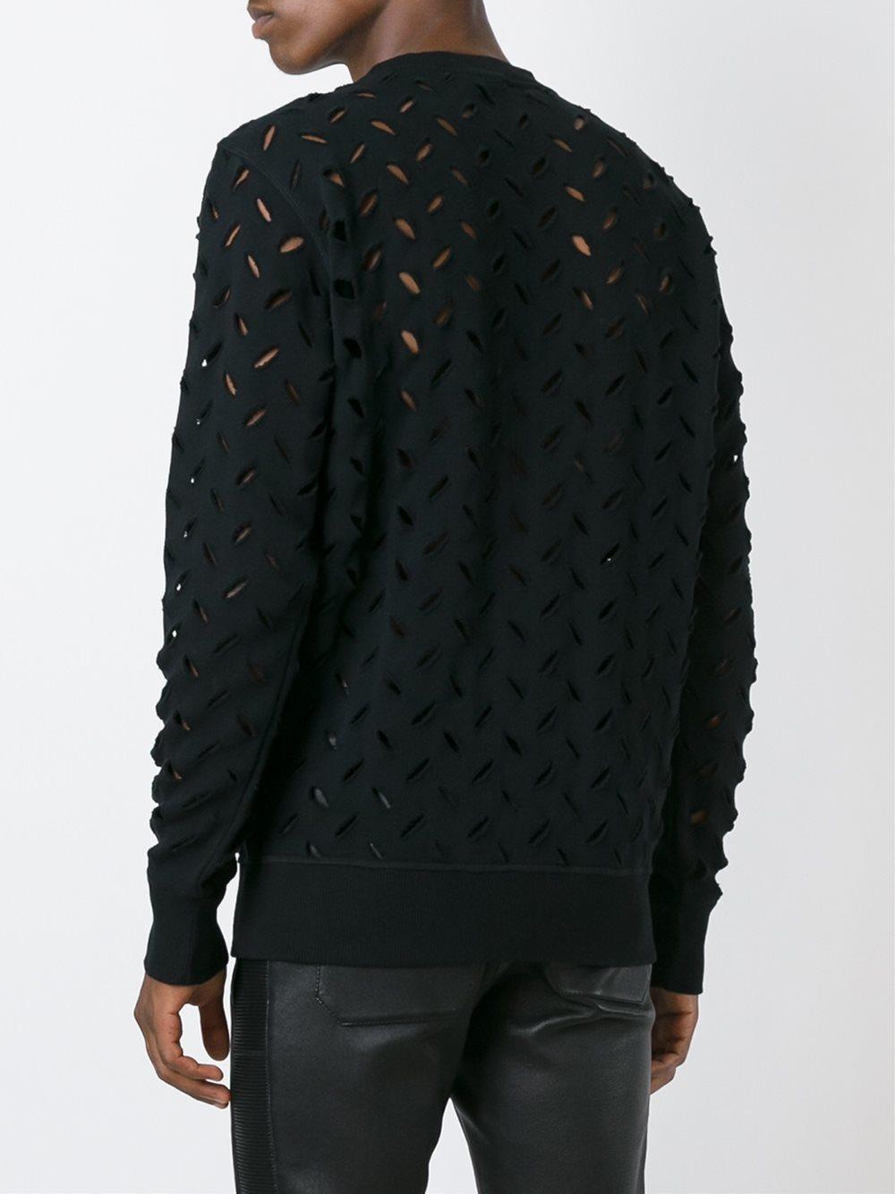 lyst vivienne westwood anglomania perforated sweatshirt