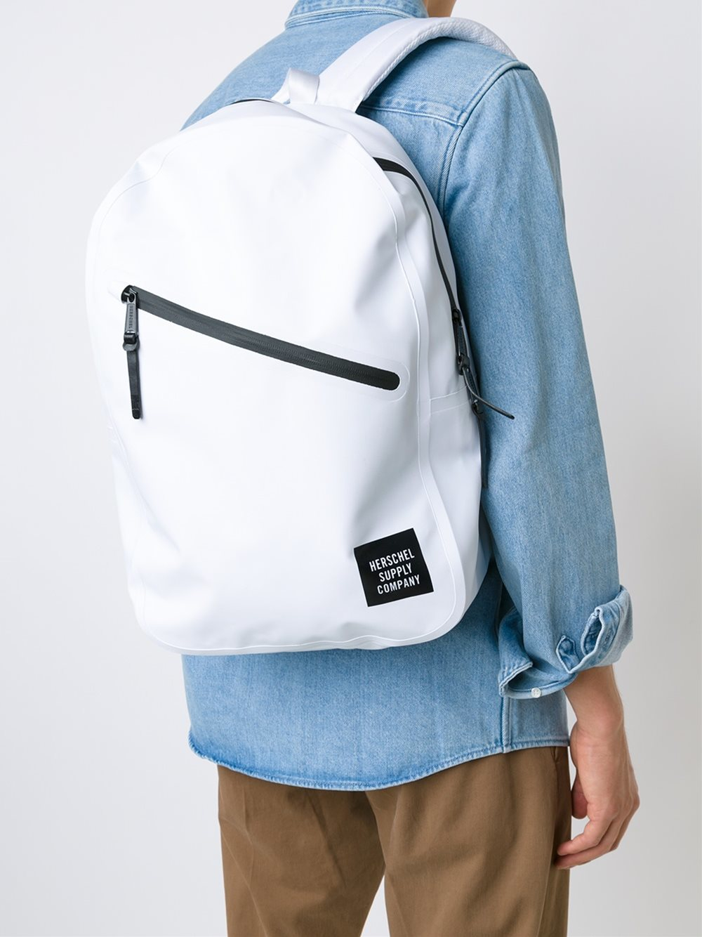 Lyst Herschel Supply Co Diagonal Zipper Backpack In