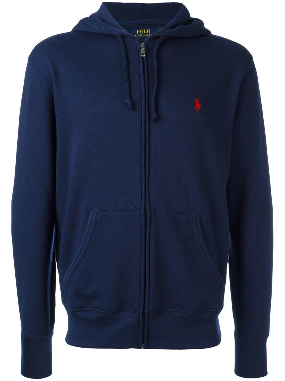 polo ralph lauren classic hooded sweatshirt in blue for men lyst. Black Bedroom Furniture Sets. Home Design Ideas