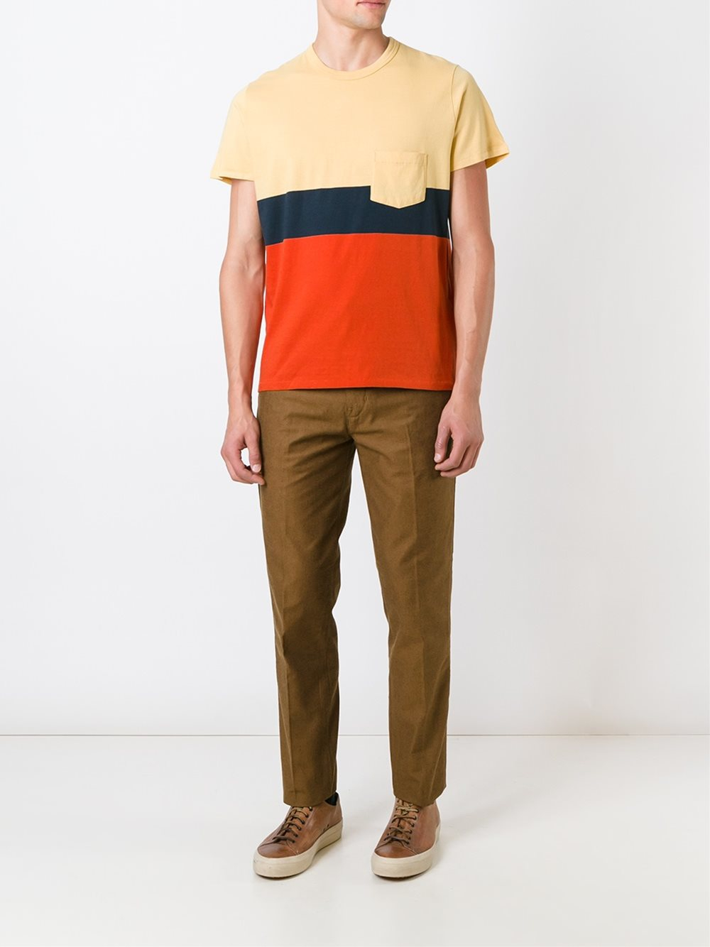 Levi 39 s 39 chino pant 39 trousers in brown for men lyst for Levis made and crafted spoke chino