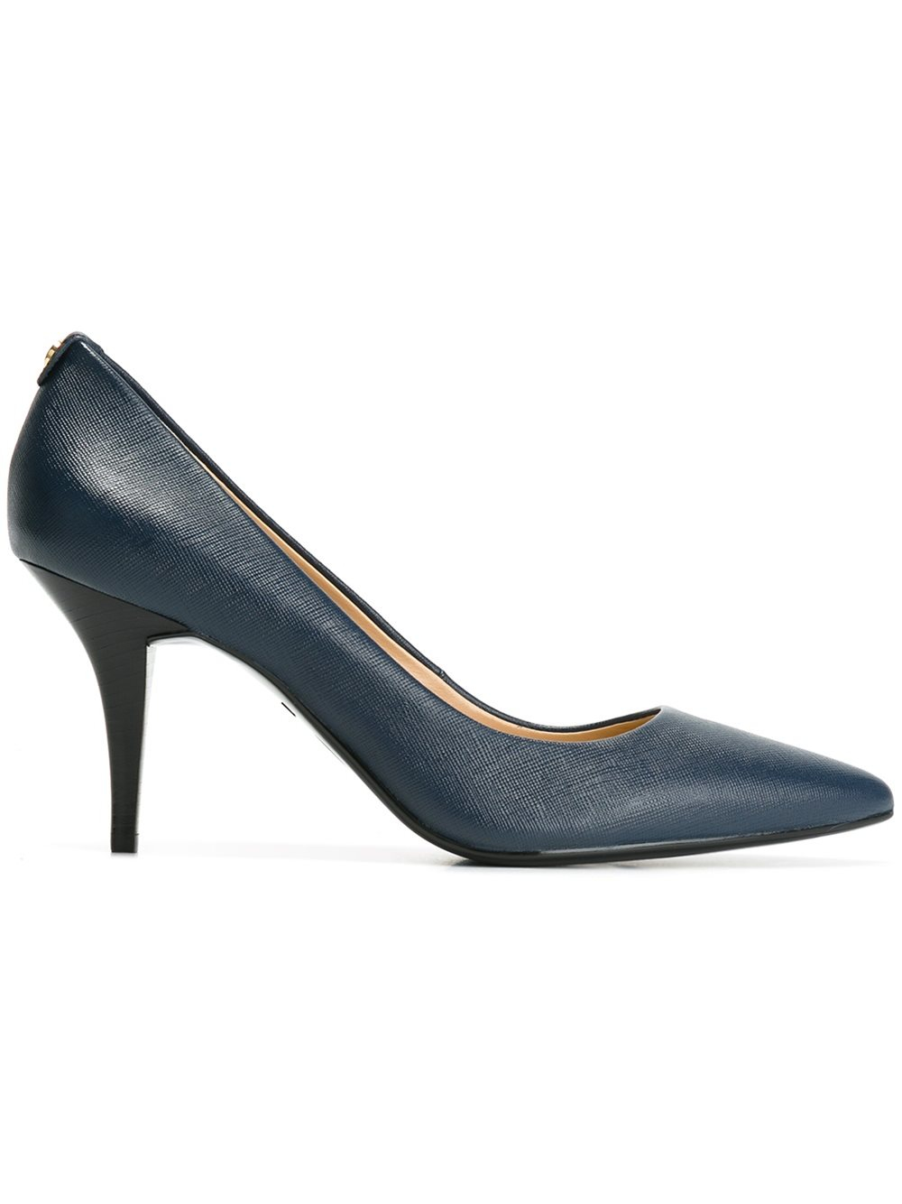 michael michael kors pointed toe leather pumps in blue lyst. Black Bedroom Furniture Sets. Home Design Ideas