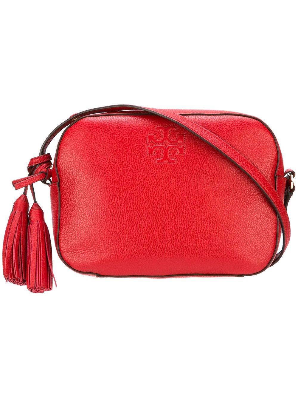 tory burch thea crossbody bag in red lyst
