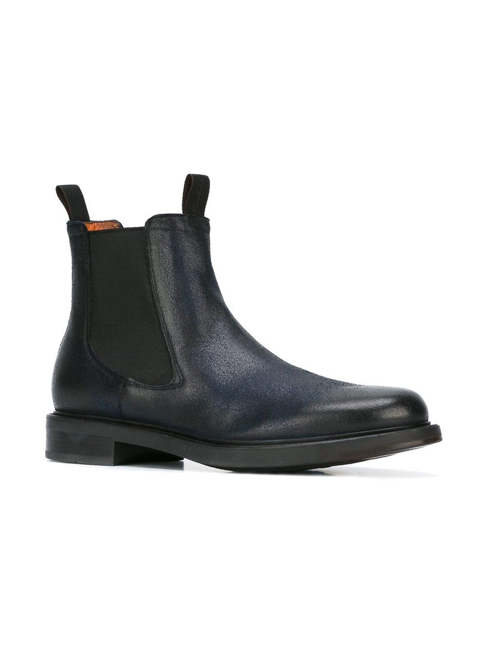 santoni beatls chelsea boots in black for men lyst. Black Bedroom Furniture Sets. Home Design Ideas