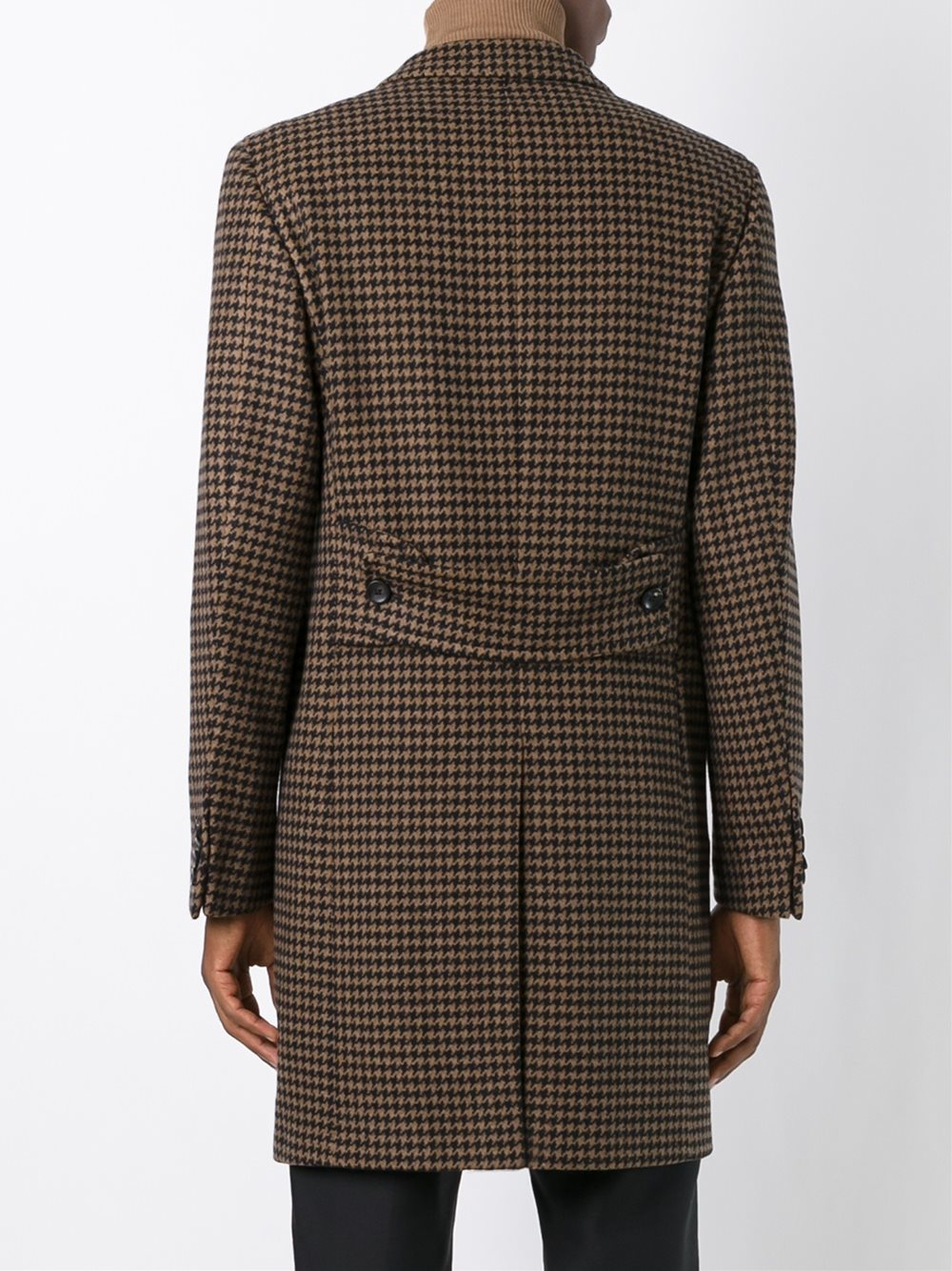 Lyst Tonello Double Breasted Houndstooth Coat For Men