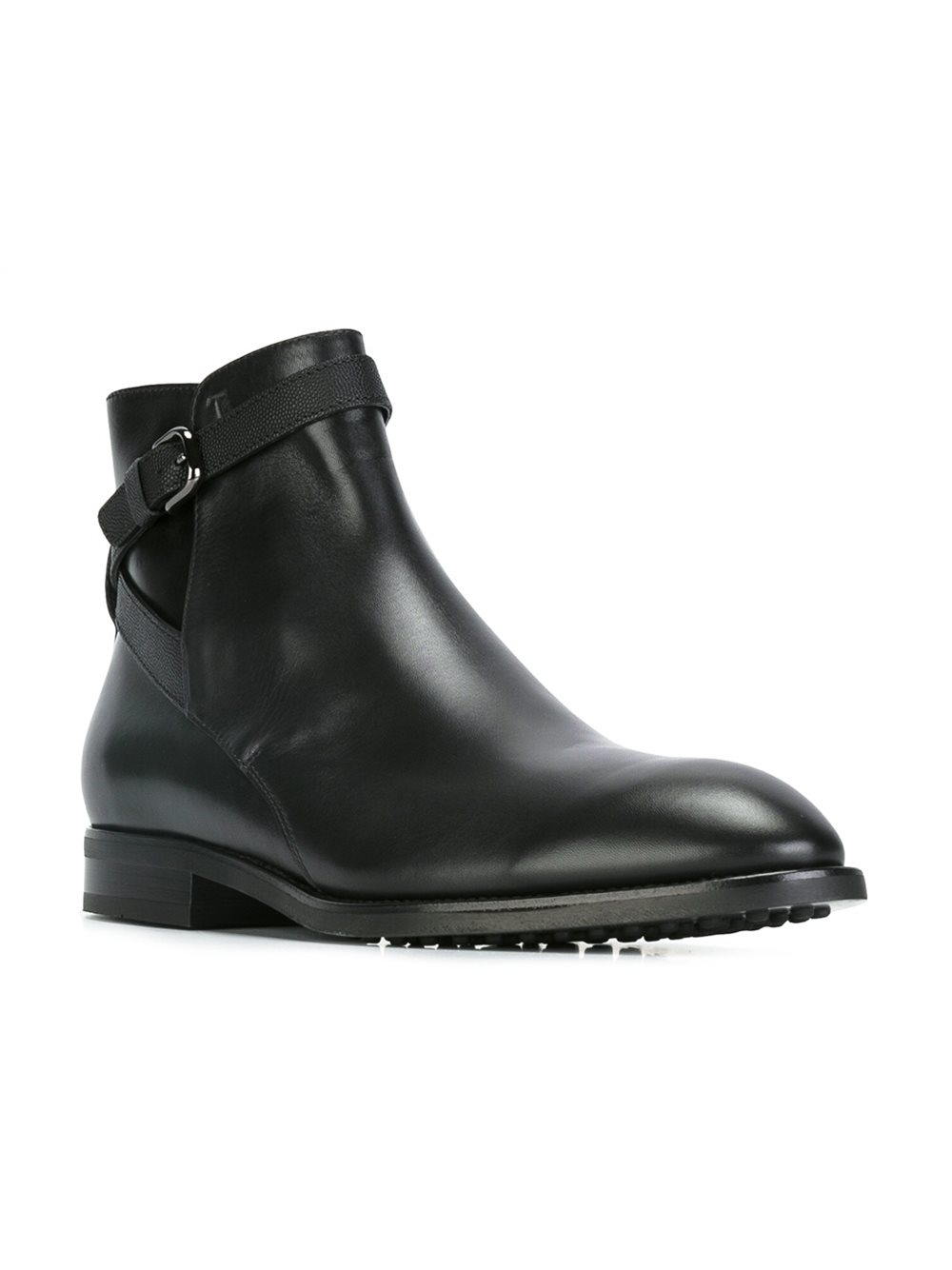 tod 39 s casual desert boots in black for men lyst. Black Bedroom Furniture Sets. Home Design Ideas
