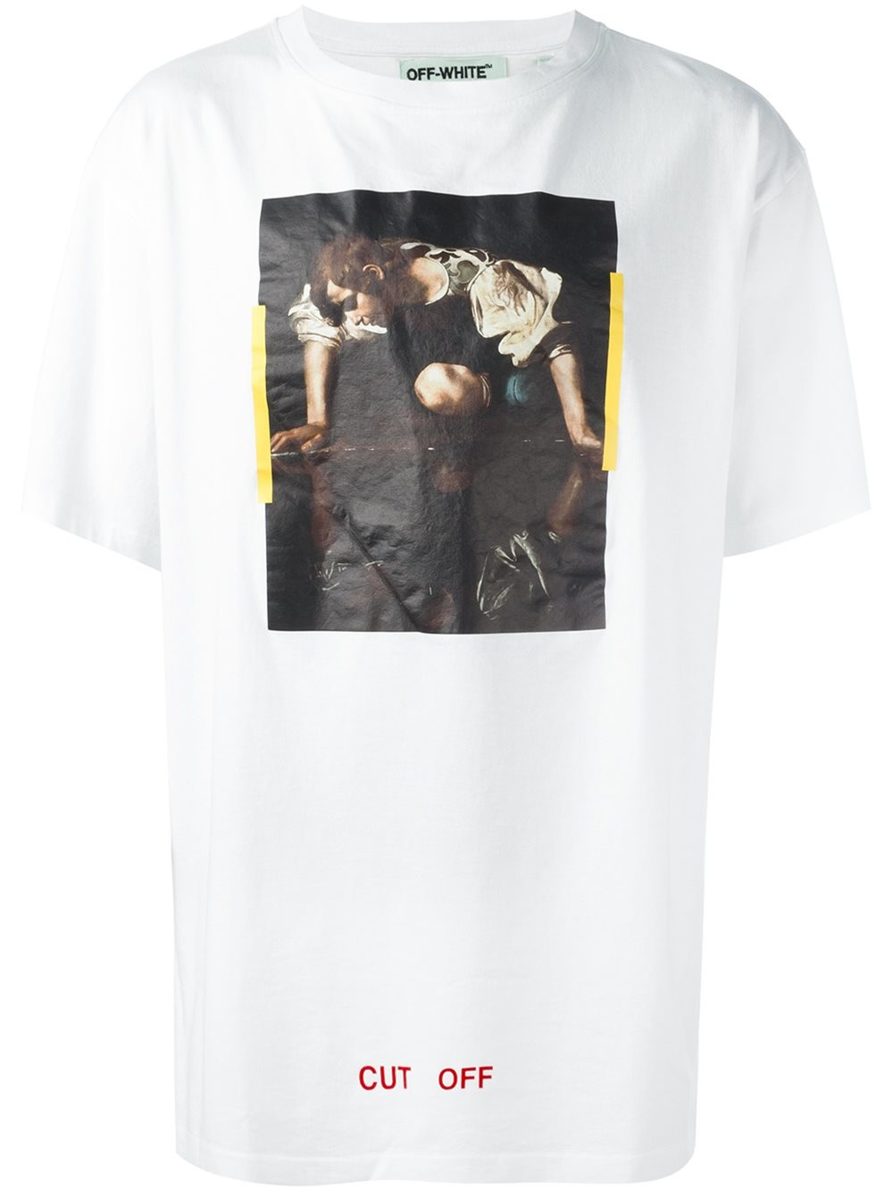 39f783084f14 Lyst - Off-White c o Virgil Abloh Cut Off Printed Cotton T-Shirt in ...