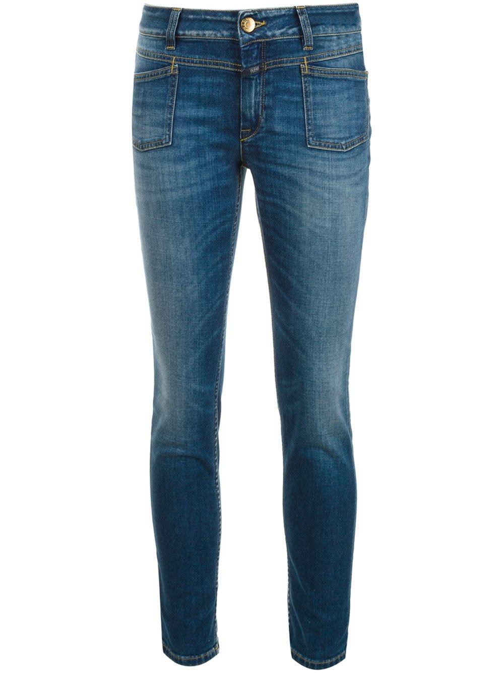 closed slim fit jeans in blue lyst. Black Bedroom Furniture Sets. Home Design Ideas
