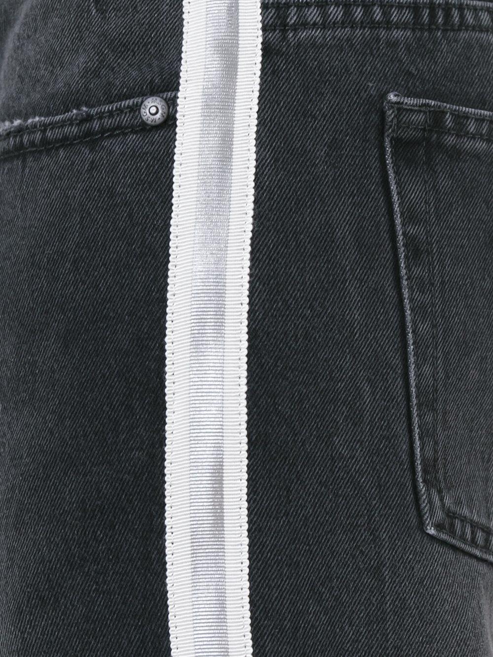 Msgm Side Stripe Jeans In Gray For Men Lyst