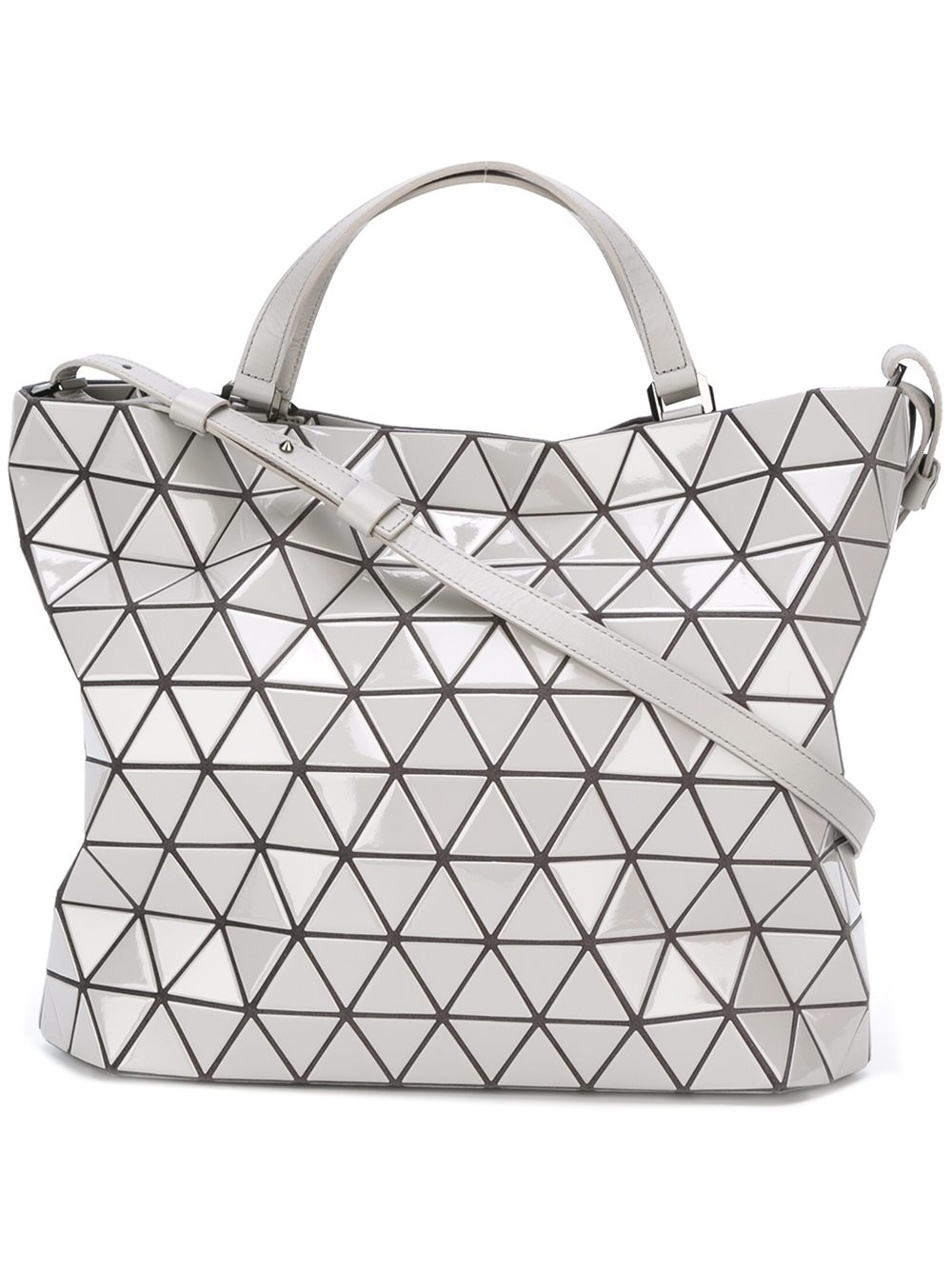 bao bao issey miyake prism pattern tote bag women polyester one size in gray lyst. Black Bedroom Furniture Sets. Home Design Ideas