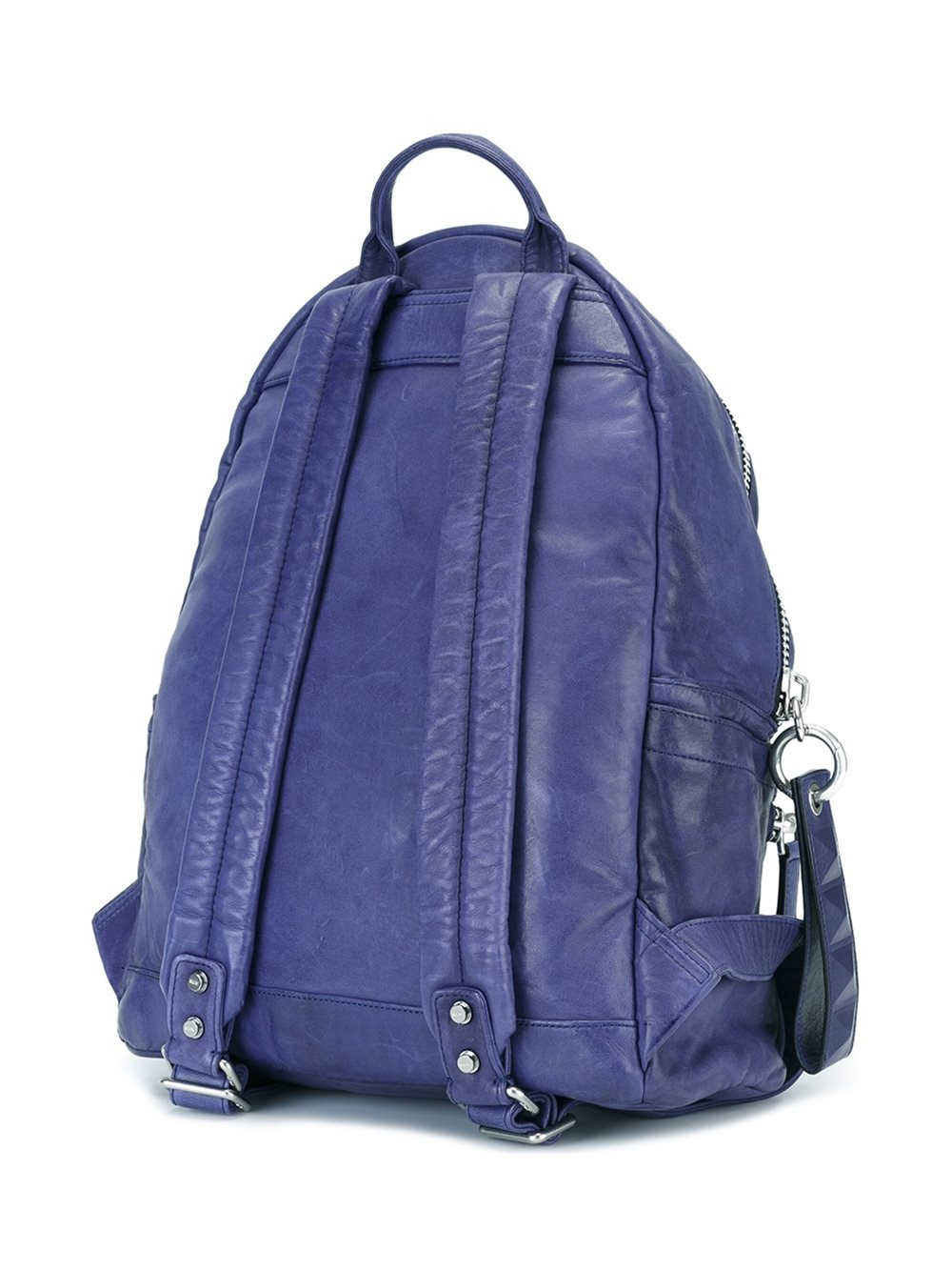 Mcm Leather Backpack In Blue For Men Lyst