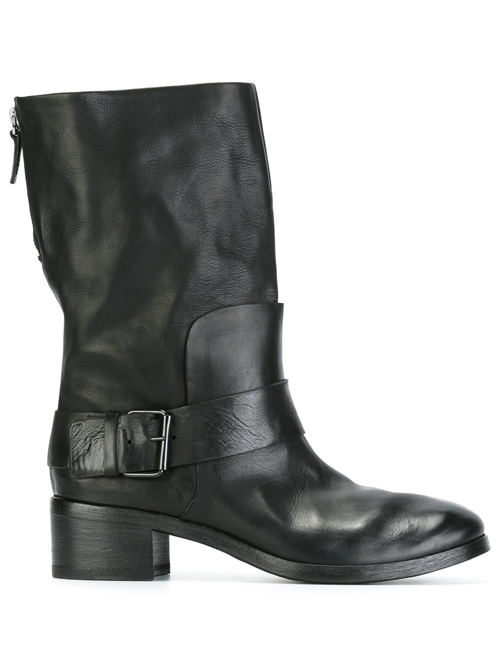 mars 232 ll marsell leather moto boots in black lyst