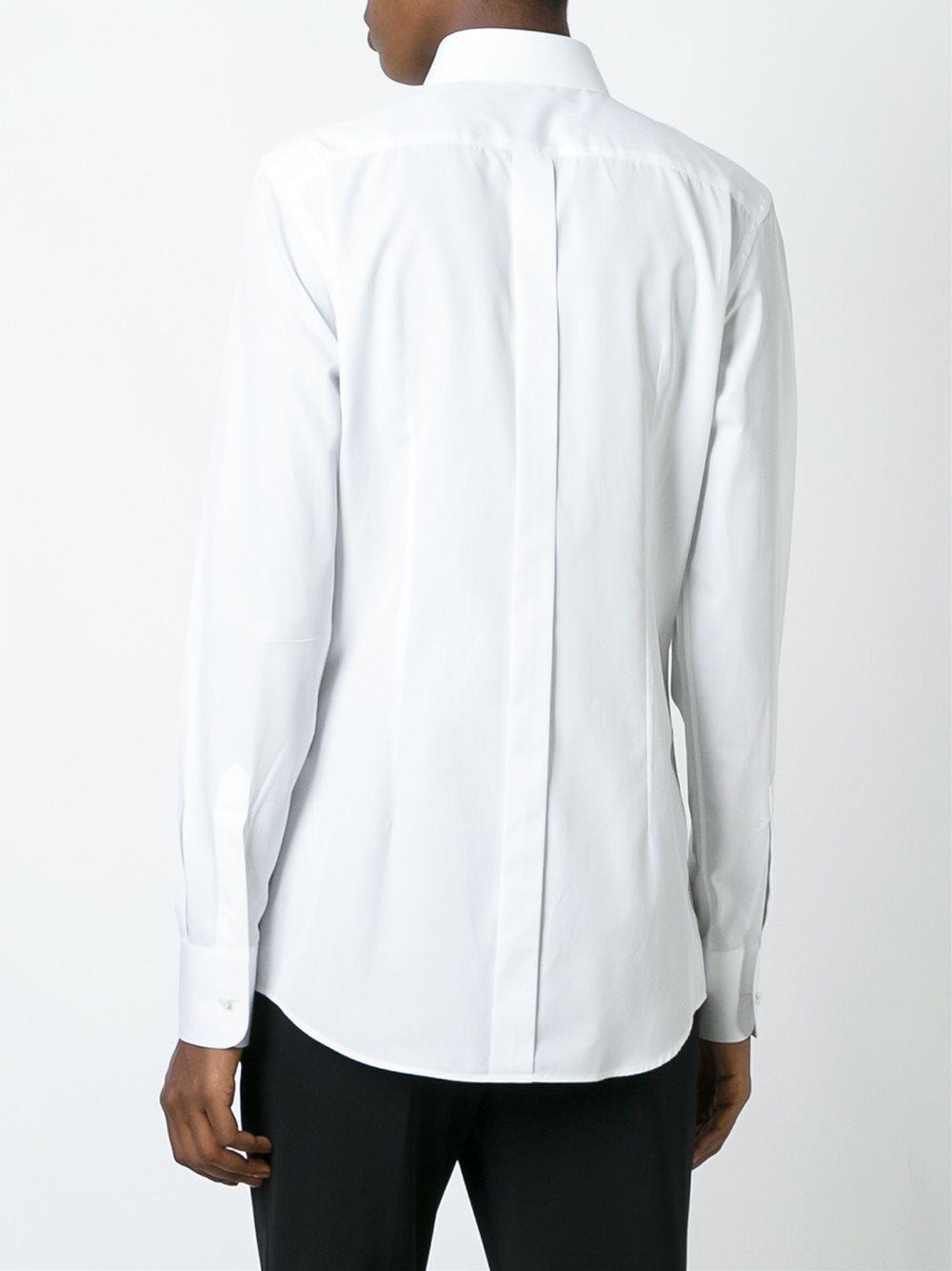 Dolce Gabbana Classic Dress Shirt In White Lyst