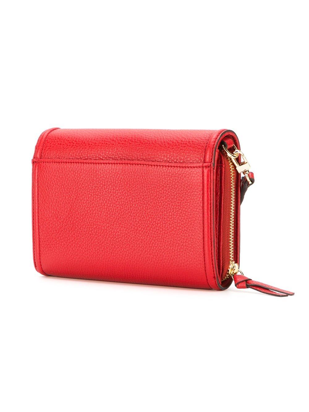 lyst tory burch foldover crossbody bag in red