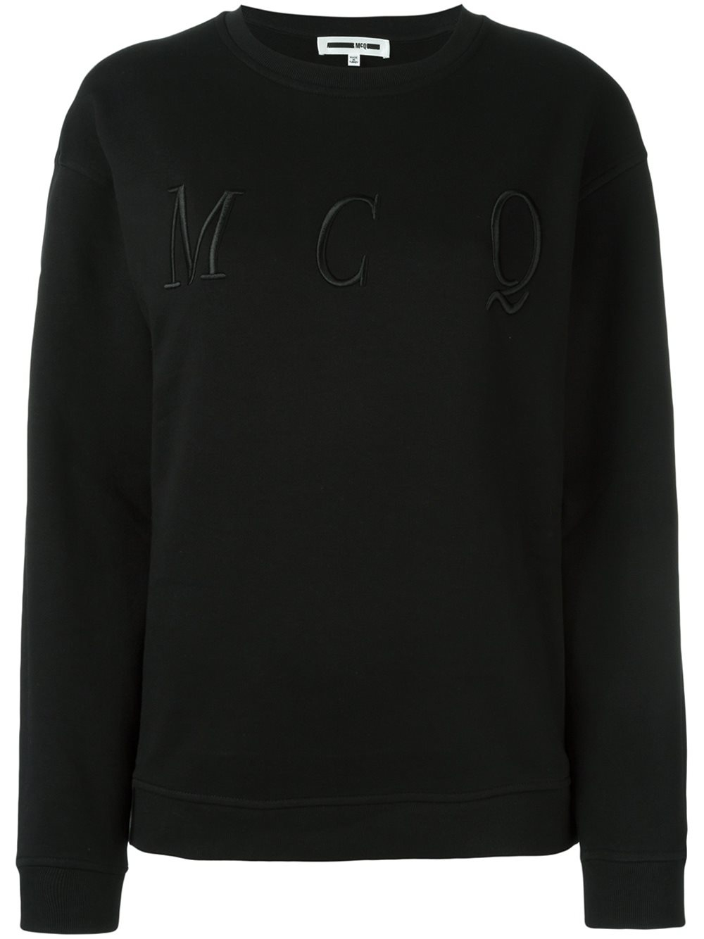 mcq alexander mcqueen embroidered logo sweatshirt in black lyst. Black Bedroom Furniture Sets. Home Design Ideas
