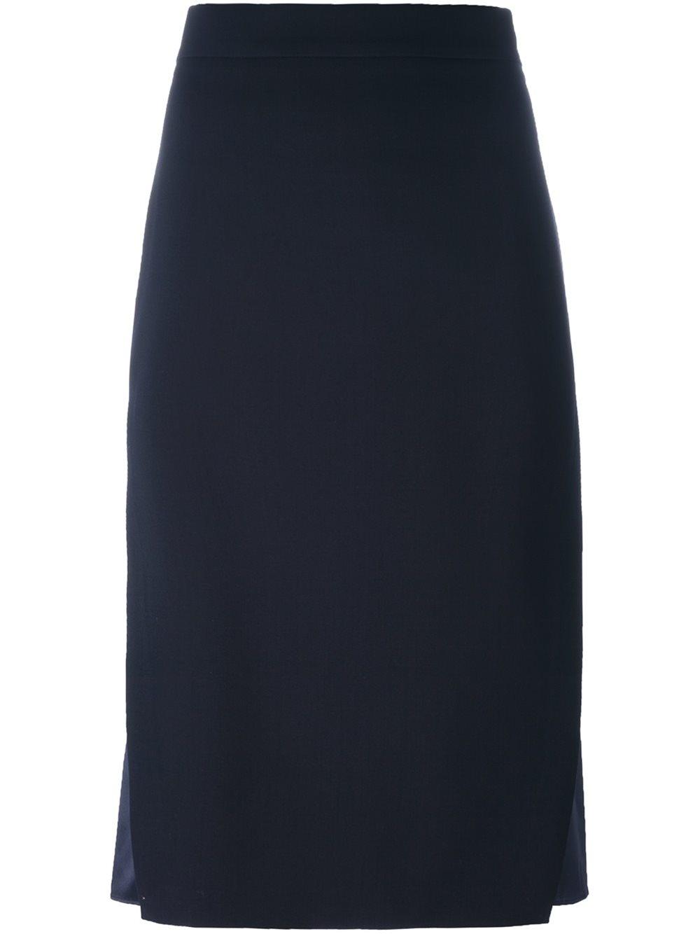 brunello cucinelli layered skirt in blue lyst