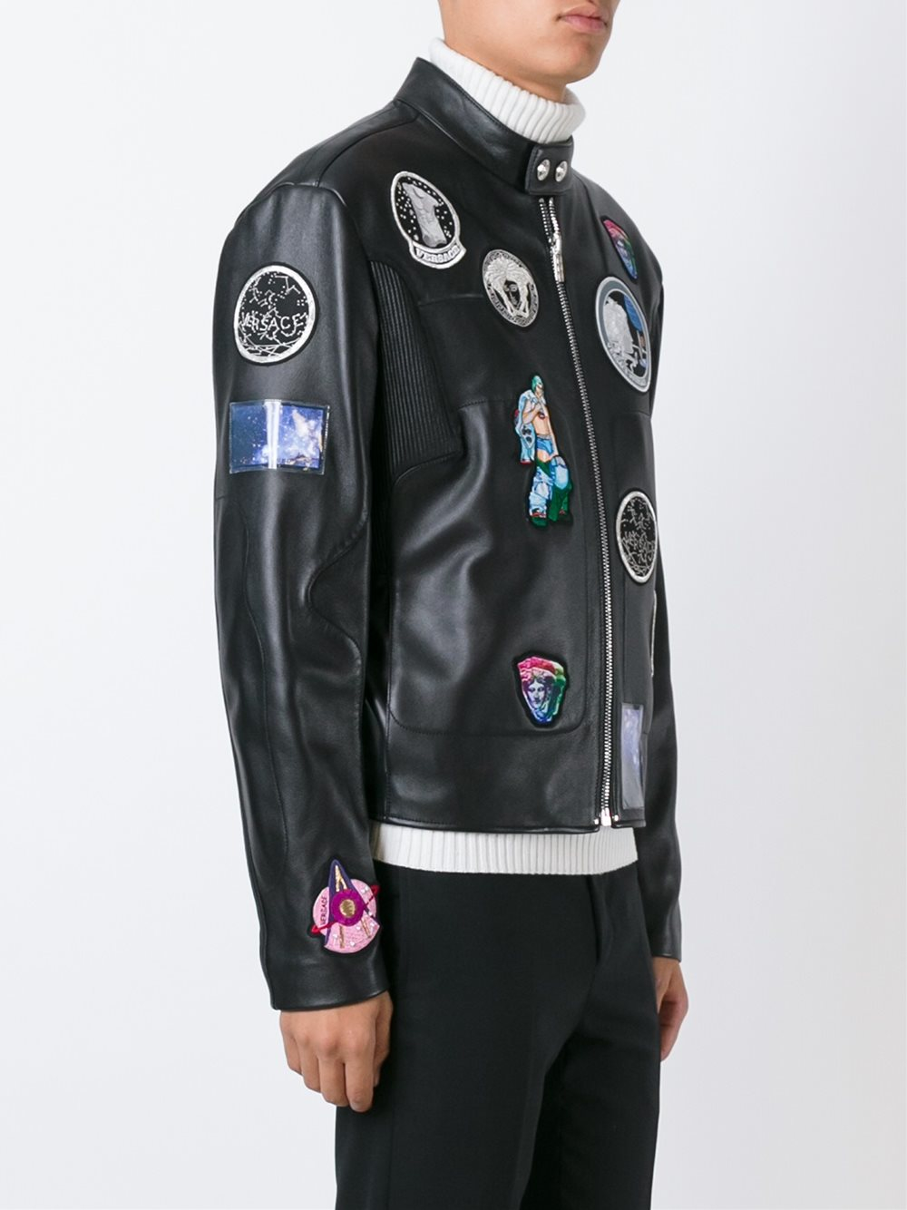 Versace Astronaut Patch Jacket In Black For Men Lyst