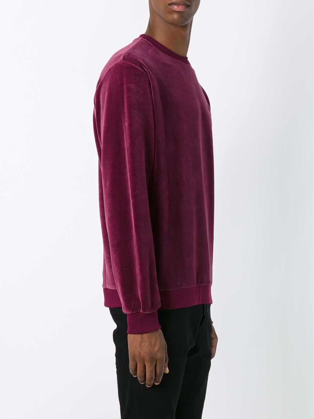 adidas originals velour crew sweatshirt for men lyst. Black Bedroom Furniture Sets. Home Design Ideas