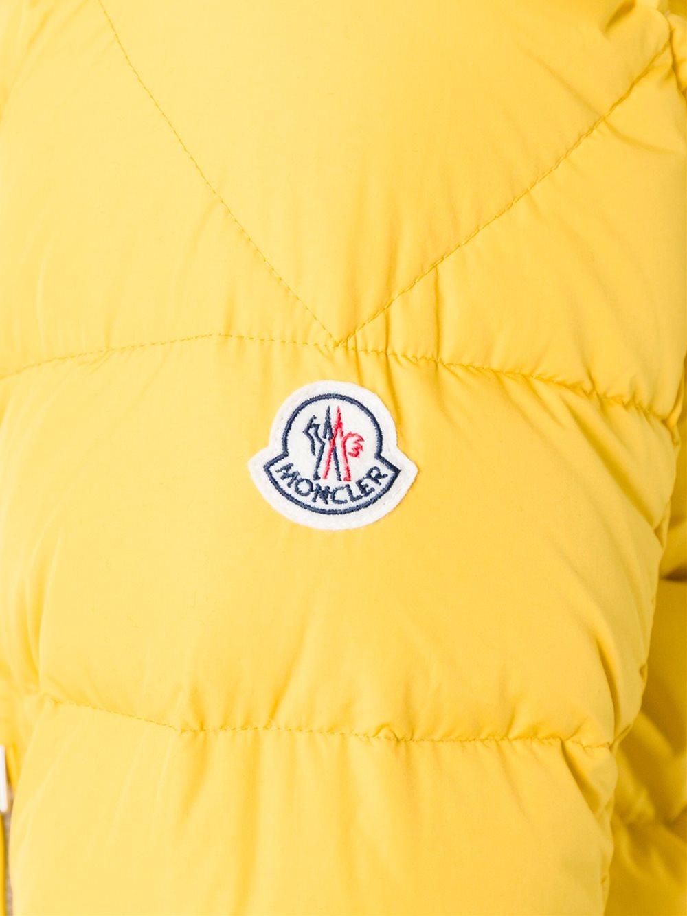 moncler brique jacket yellow