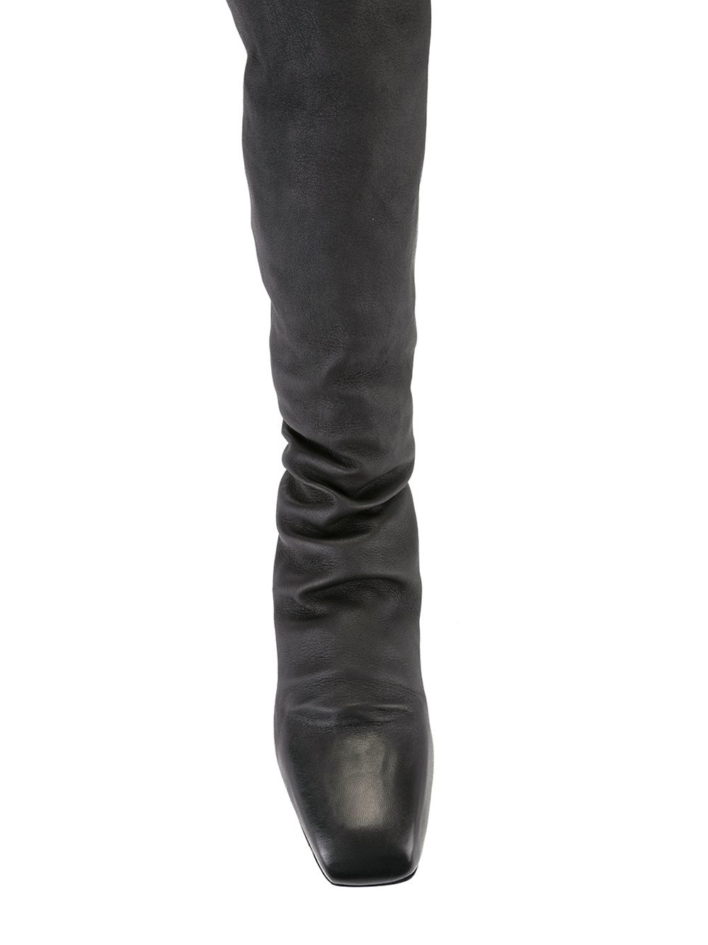Rick owens Thigh Length Flat Boots in Black