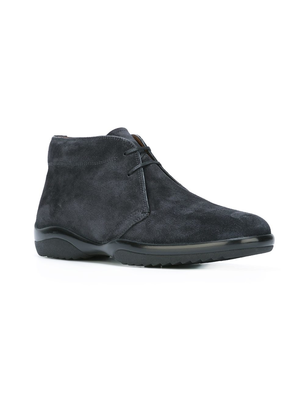 Lyst Bally Suede Ankle Boots In Blue For Men