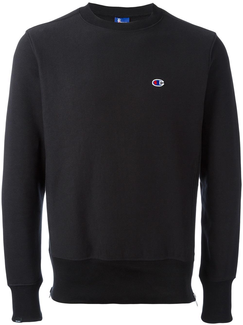 Lyst Champion X Beams Sweatshirt In Black For Men