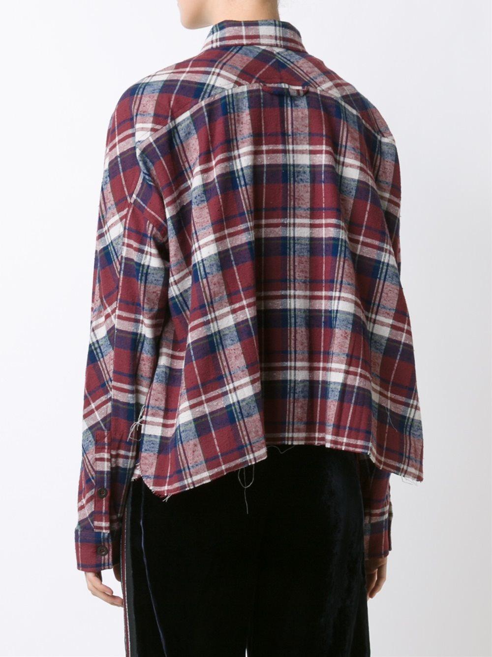 Faith Connexion Oversized Flannel Shirt Women Cotton