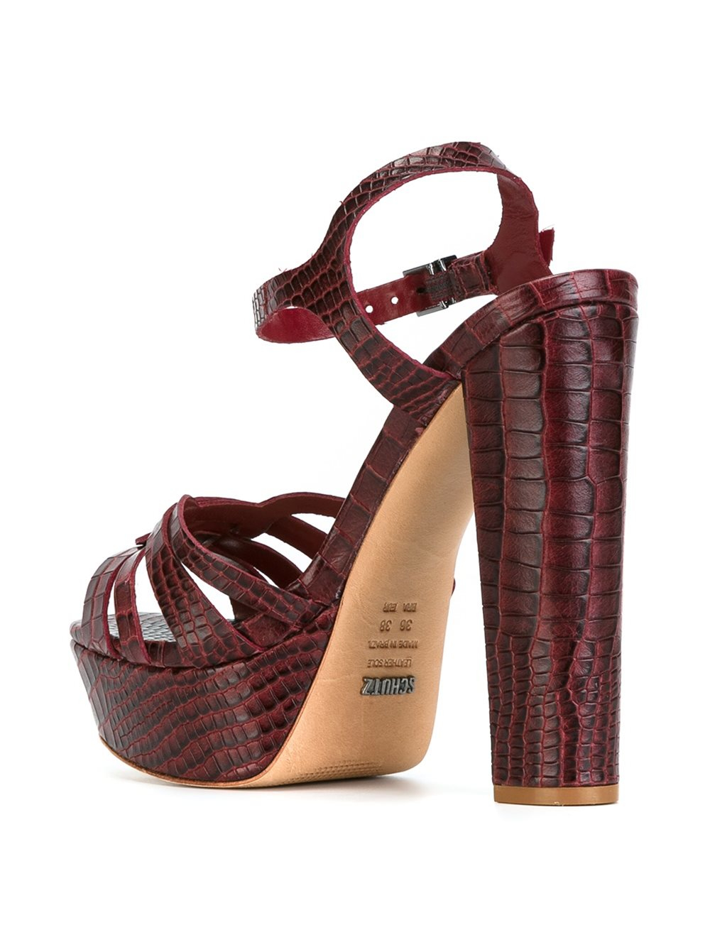 Lyst Schutz Platform Leather Sandals