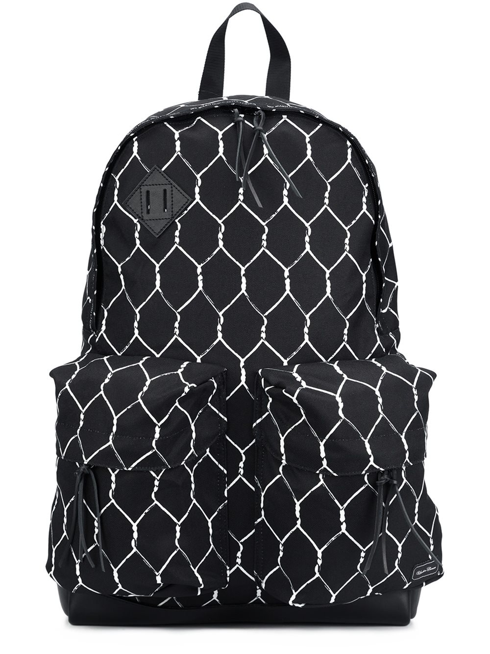 Undercover 39 x porter 39 fence print backpack in black for for Undercover x porter